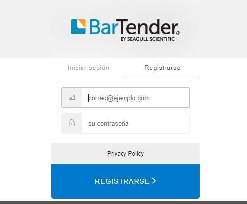 registro bartender